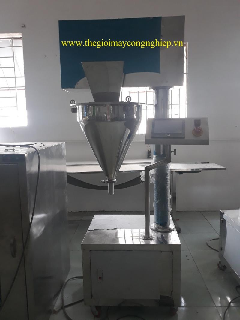 Máy chiết bột bán tự động – Máy chiết trục vít, chiết định lượng collagen, bột mì, bột gạo, đường
