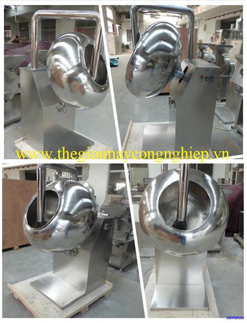 Máy phủ lớp ngoài, máy bao đường cho nguyên liệu – Máy vo viên tròn, phủ lớp ngoài, trộn nguyên liệu