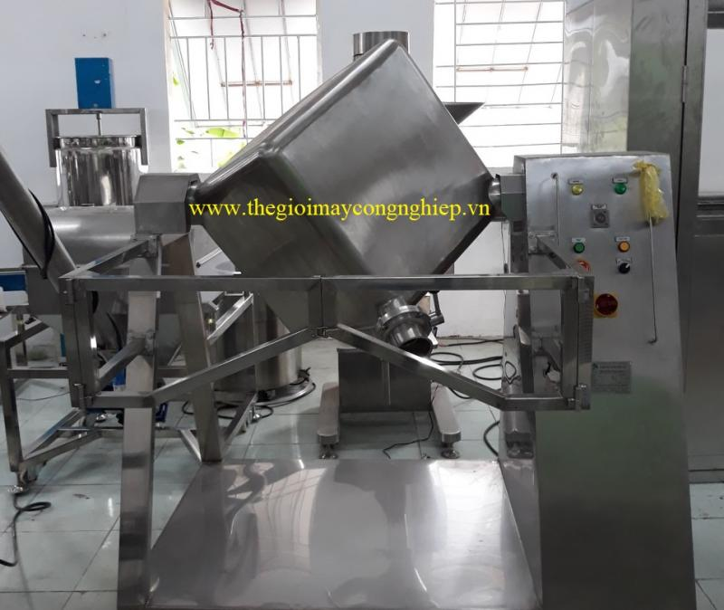 Máy trộn bột hình lập phương – Máy trộn bột, ngũ cốc, thực phẩm, máy trộn công suất lớn