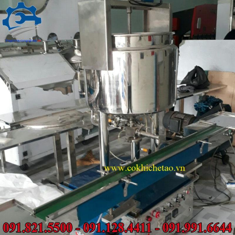 Máy chiết rót dạng lỏng, sệt như mỹ phẩm, nước yến, thực phẩm, đồ uống, nước rửa chén, tương ớt